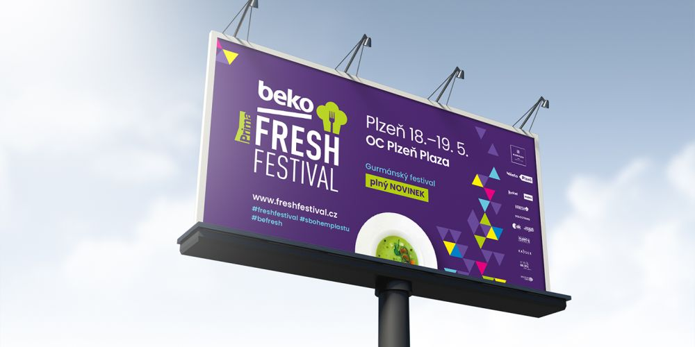 The visual style for the Fresh Festival