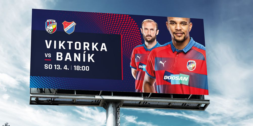 We are the general graphic design studio for the Victoria Plzeň football club