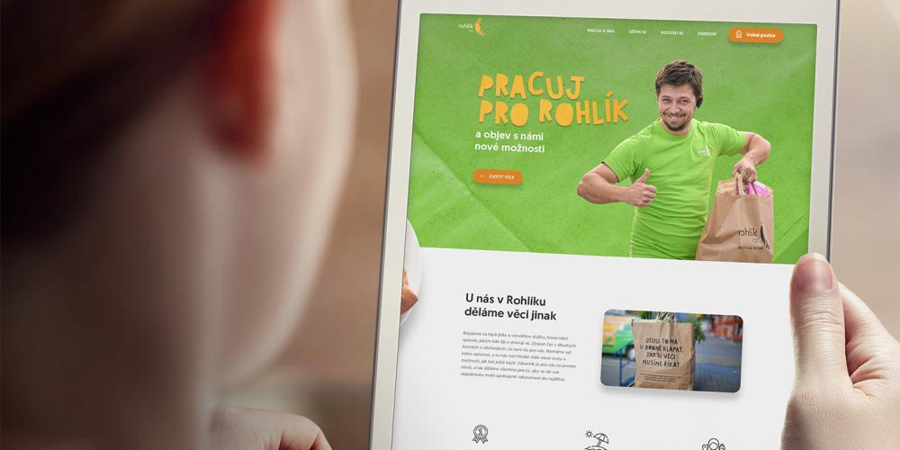 Kariérní web pro Rohlík.cz