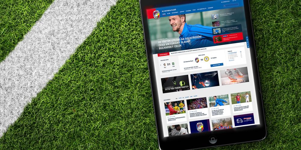 Webové stránky pro FC Viktoria Plzeň