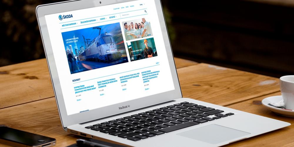 Webové stránky Škoda Transportation