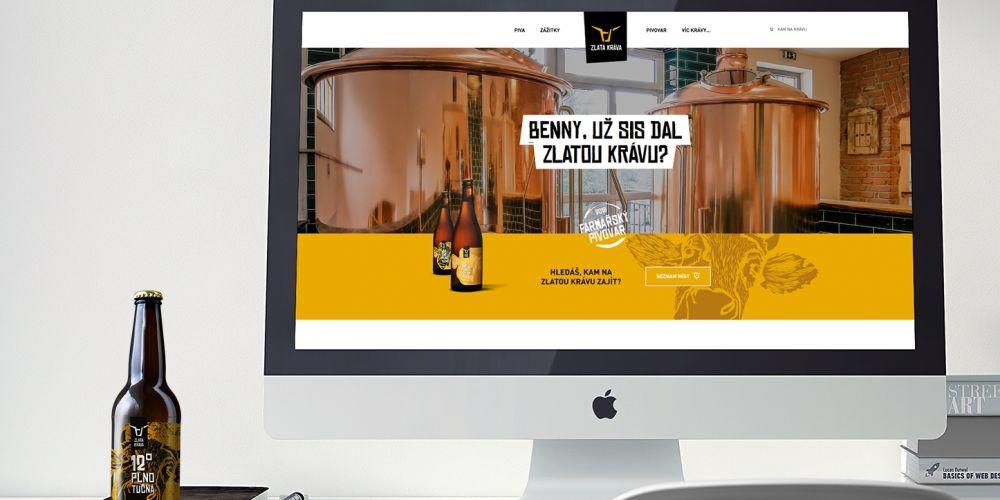 Webové stránky Zlatá Kráva