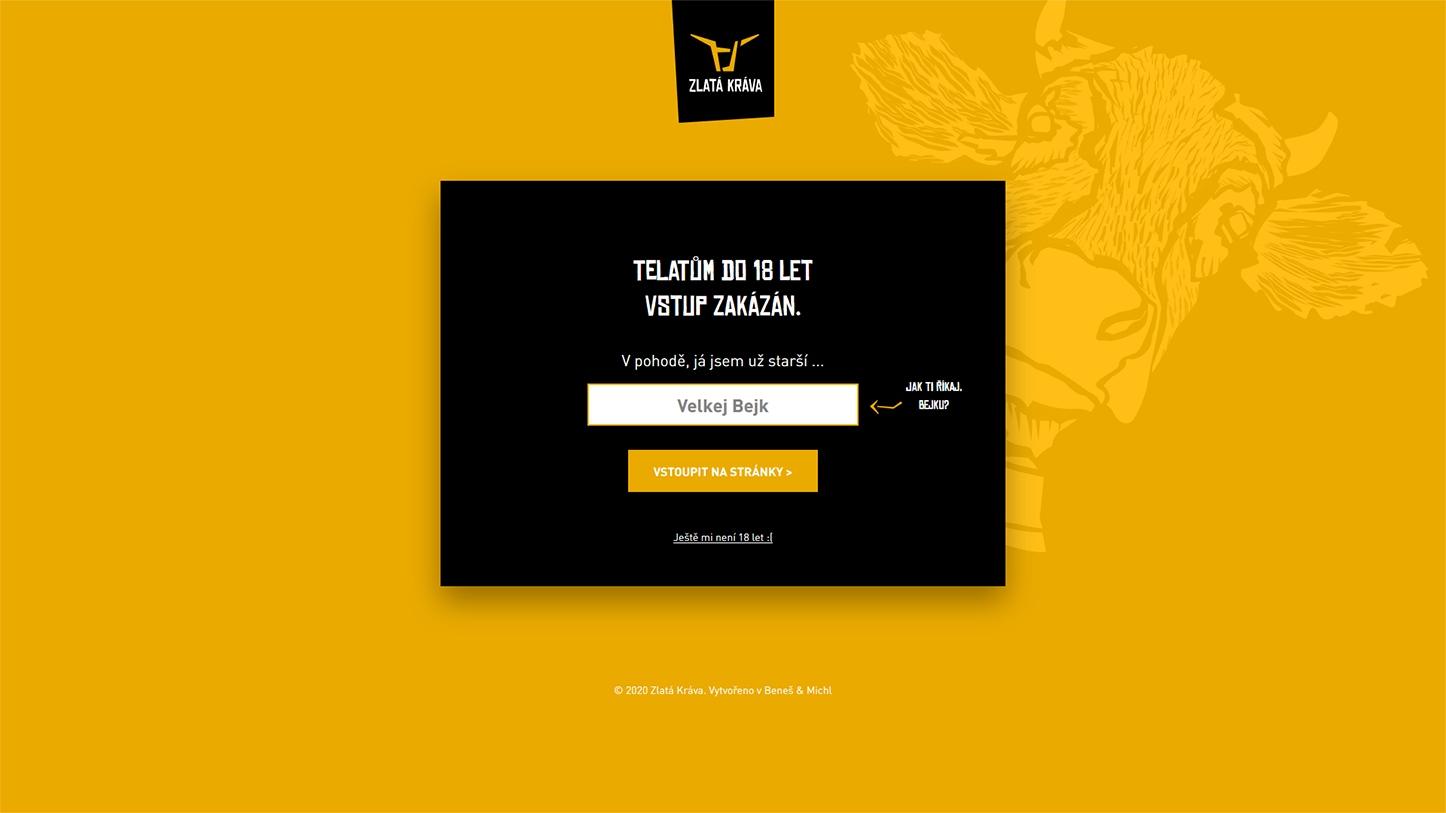Pivovar Zlatá kráva web