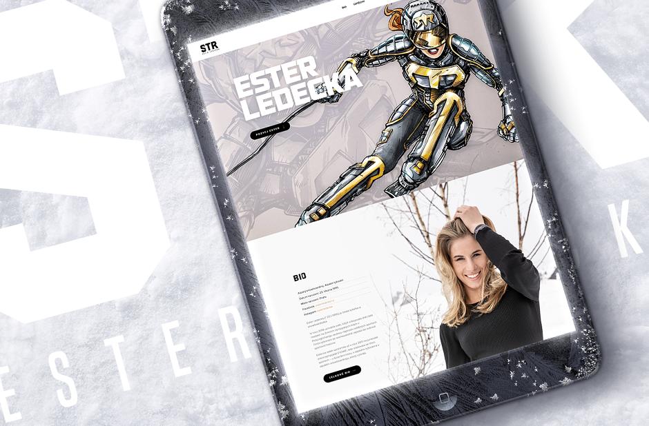 Olympijská vítězka Ester Ledecká má nový web